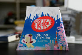 Blue berry kitkat